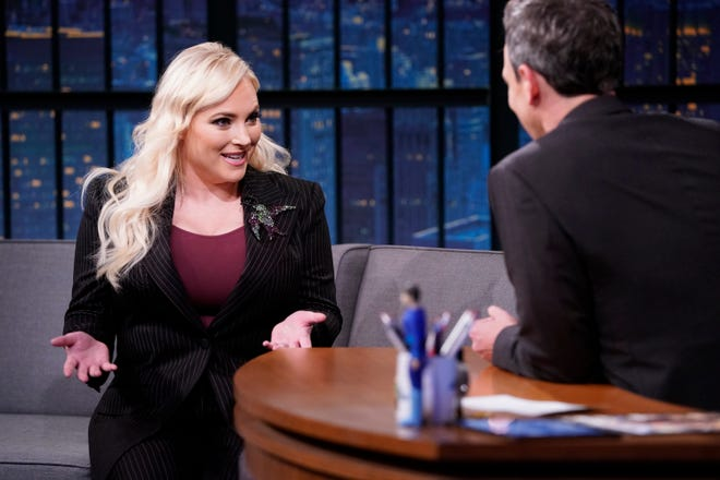 Meghan McCain during an interview with host Seth Meyers on May 7, 2019.