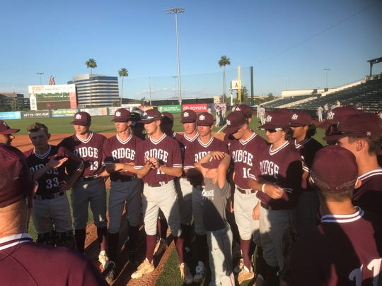 Mountain Ridge baseball after Tuesday's win.