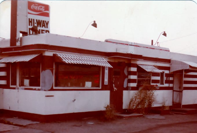 The diner in the Garfield Historic District is one of an estimated 3,500 built by Valentine Manufacturing in Wichita, Kansas. Six Valentine diners opened along Route 66 in Arizona after World War II. The Garfield version opened in Williams as the Hi-Way Diner.