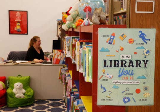 The children's section inside the Pleasant Valley Free Library's temporary location on May 7, 2019.