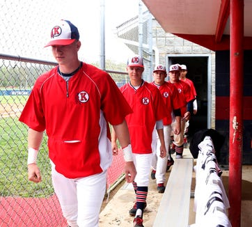 Ketcham's baseball team earned the top seed in Section 1's Class AA tournament. The team's three sets of brothers, Kolby & Bryce Mordecki, Quentin & Phoenix Bowman and Anthony & David Vose leave he clubhouse prior to a game on May 3, 2019.