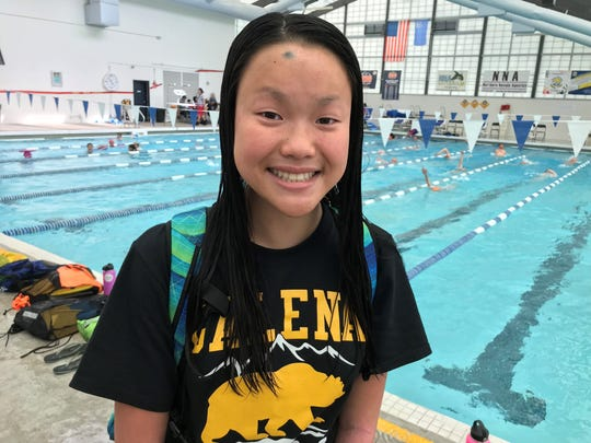 Galena freshman Emma Karam is one of the top young swimmers in the north.
