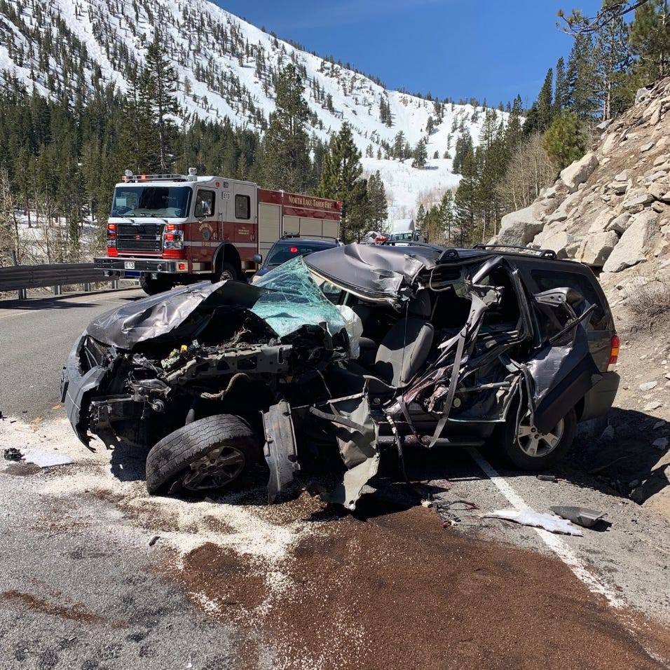 Mt. Rose Highway closed after 2-car crash