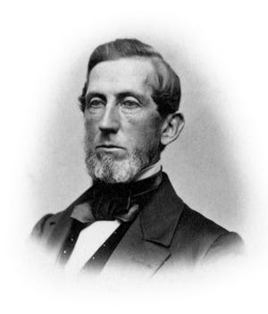 Mark E. Reeves' family came to Richmond when he was 12. With pluck and initiative, young Reeves amassed a fortune over the years. During the Civil War, at the request of Oliver P. Morton, Reeves helped fund six much-needed regiments to fight. Upon his passing on May 13, 1883, his wife Caroline donated $30,000 to the Morrisson Library in his memory, and it became the Morrisson-Reeves Library. After her death in 1911, the Reeves farm was subdivided into what is now called Reeveston. – Image courtesy of Morrisson-Reeves Library.