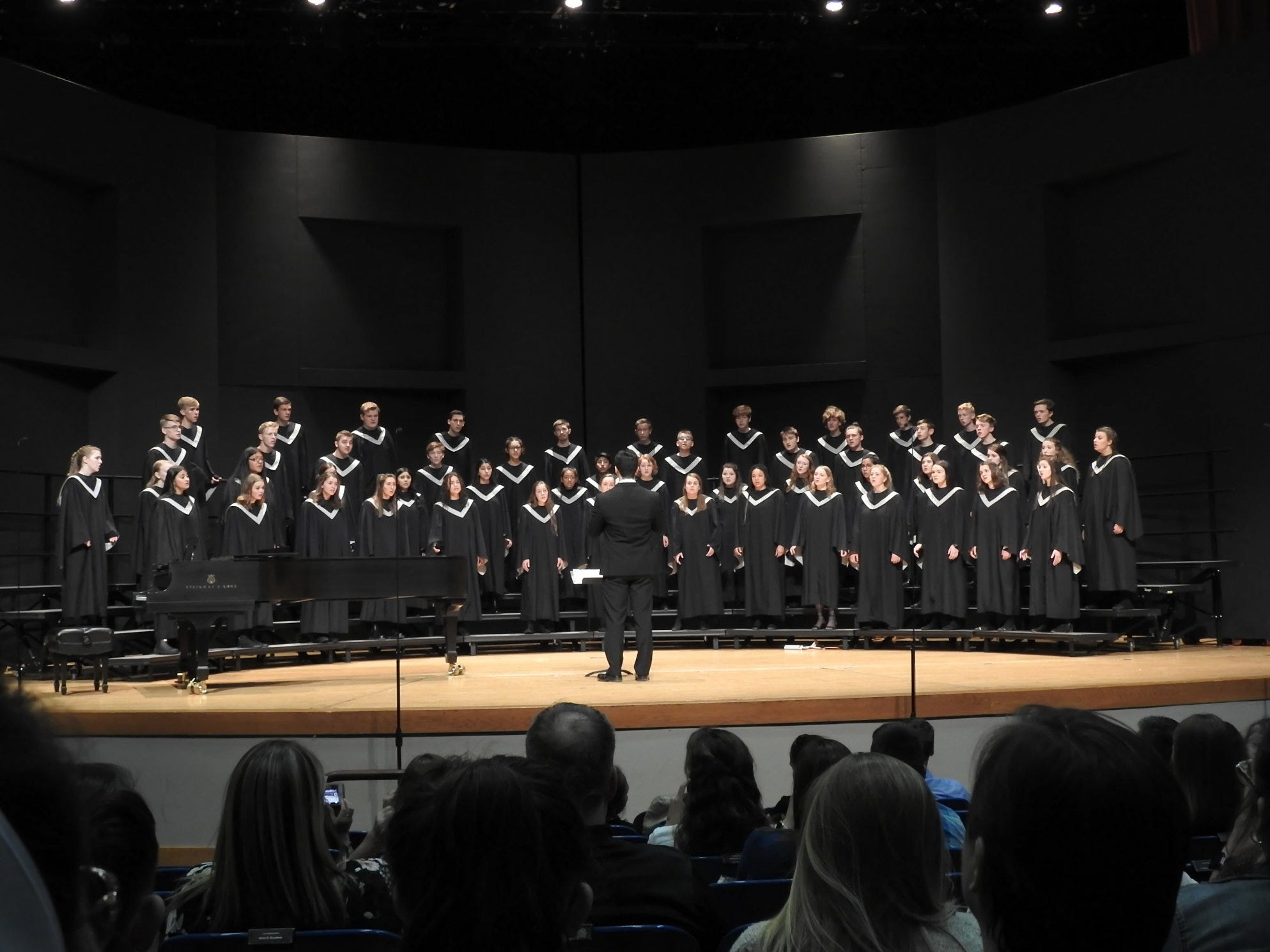 Silverton High School's choir, under the direction of Cole Haole‐Valenzuela, performs at the OSAA Choir State Championships at Oregon State University in Corvallis on April 30, 2019.