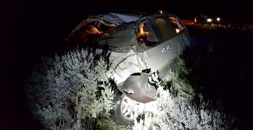A Salem man died in a crash in central Oregon Tuesday between Bend and Burns.