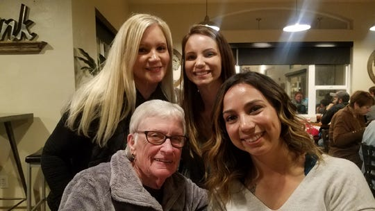 Marcia Parsons, bottom left, poses here with her daughter, Julie Lavorato, top left, and her two granddaughters.