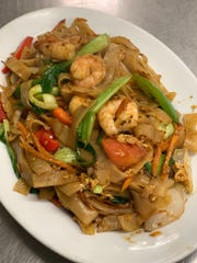 The Drunken Noodles with shrimp is one of many dishes served at Ban Moon, 405 W. Ave. N.
