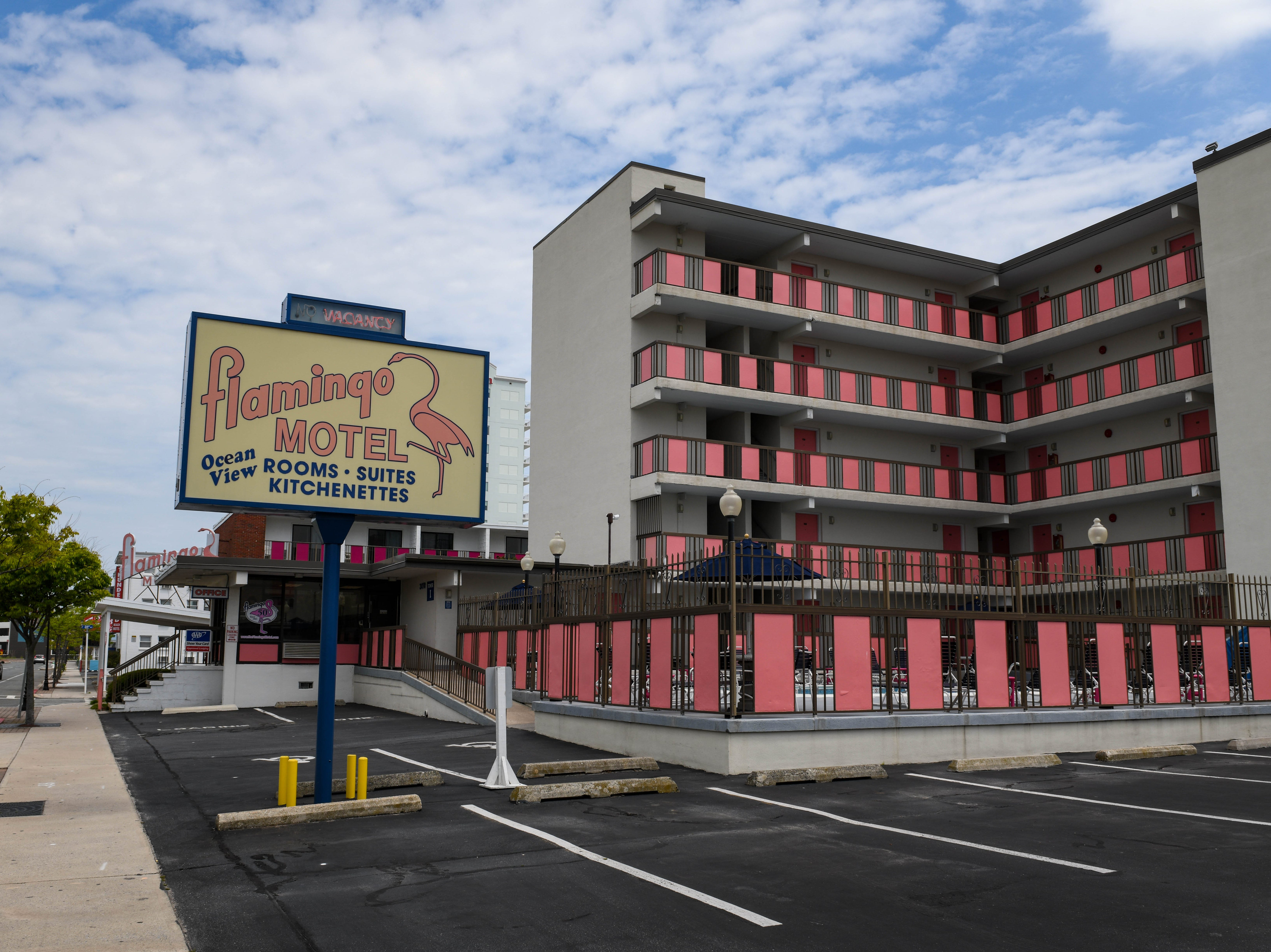 Ocean City's Flamingo Motel sits quiet before peak tourist season on May 8, 2019. The family-owned establishment has been split up in the recent sale.
