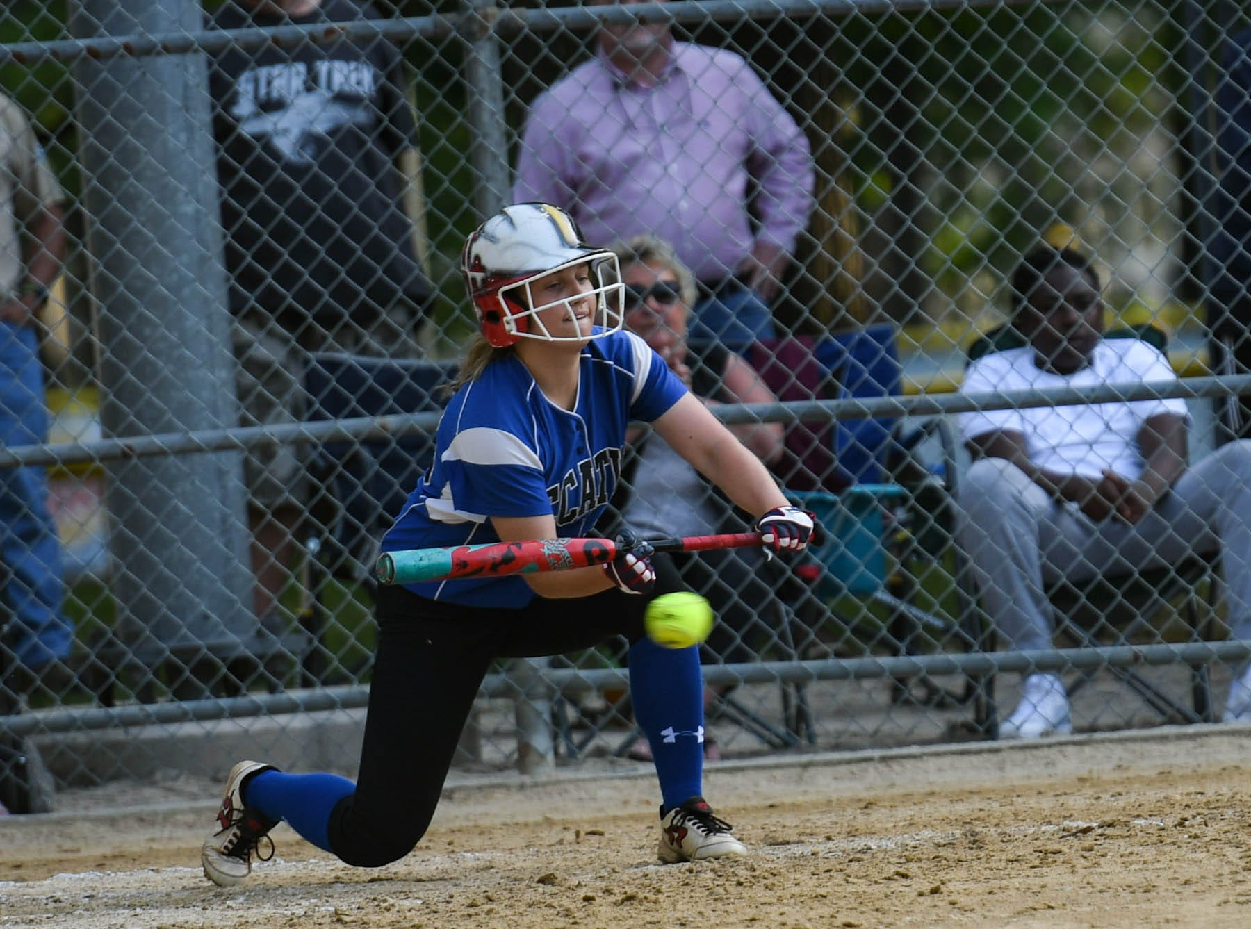 Decatur's Alexa Eisemann (35) bats up against Colonel Richardson in the Bayside Softball Championship game on Wednesday, May 8, 2019. Decatur prevailed with a score of 4 to 1.