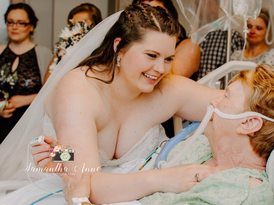 Rebecca Wheatley was married a second time at Peninsula Regional Medical Center so her grandmother could witness the big day. Several nurses planned and decorated for an entire wedding to be held in their hospital.