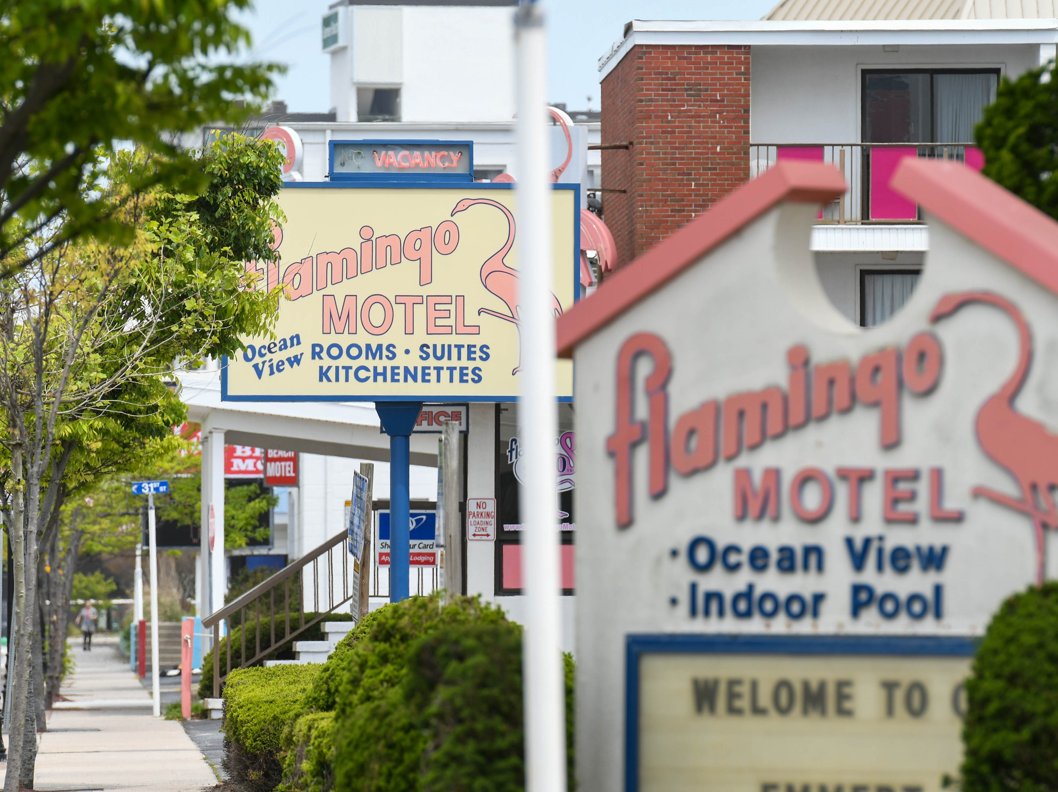 Ocean City's Flamingo Motel sits quiet before peak tourist season on May 8, 2019. The family-owned establishment has been sold to local buyers.