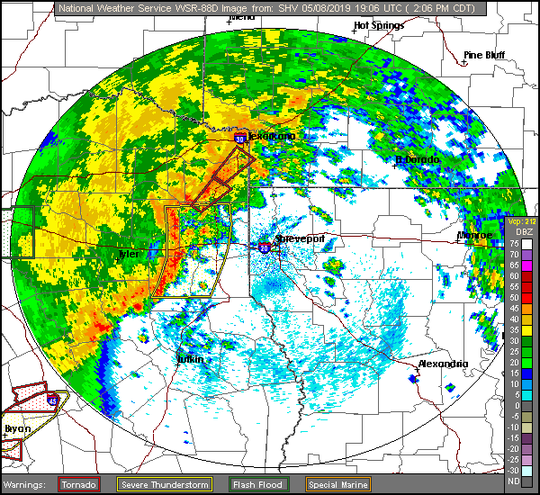 Radar from the National Weather Service