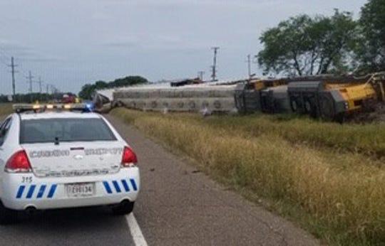 A train was derailed Tuesday afternoon in lower Caddo Parish.