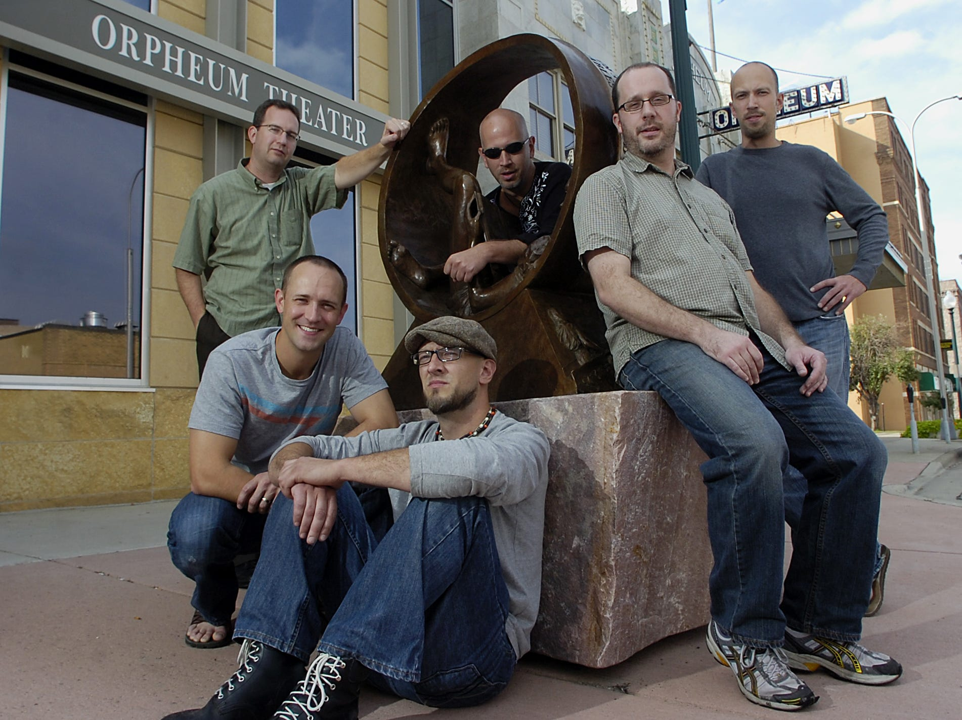 Spooncat!, from left, Rich Hastings, Joel Sonnichsen, Jason Hegg,  Jeremy Hegg, Ryan Hofer and Jon Hegg. Not pictured: Derek Hengeveld, John Bertsch and Xopher Smith.