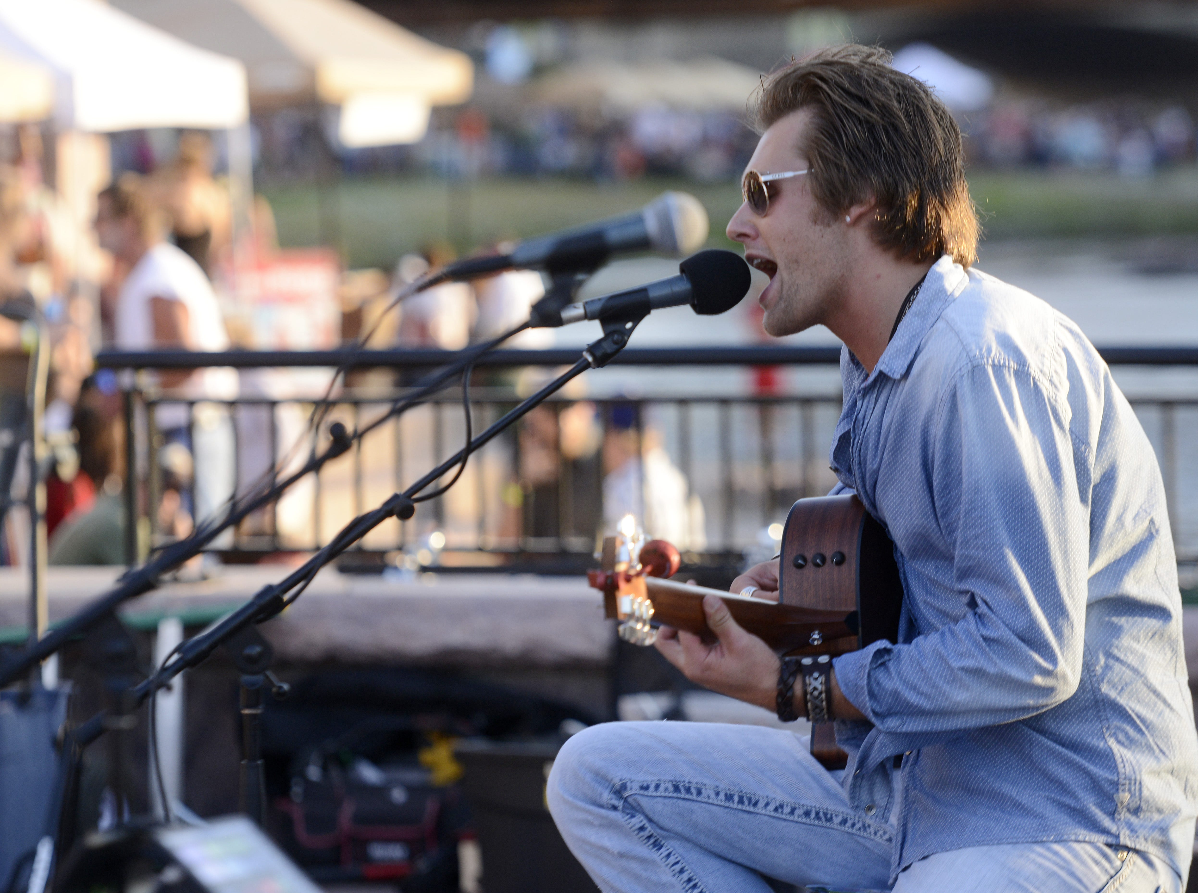 Cole Allen performs at Downtown Riverfest, August 17, 2013.