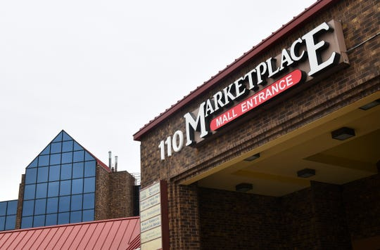 The entrance to the Marketplace Mall at 110 Second St. S is pictured Wednesday, May 8, in Waite Park.