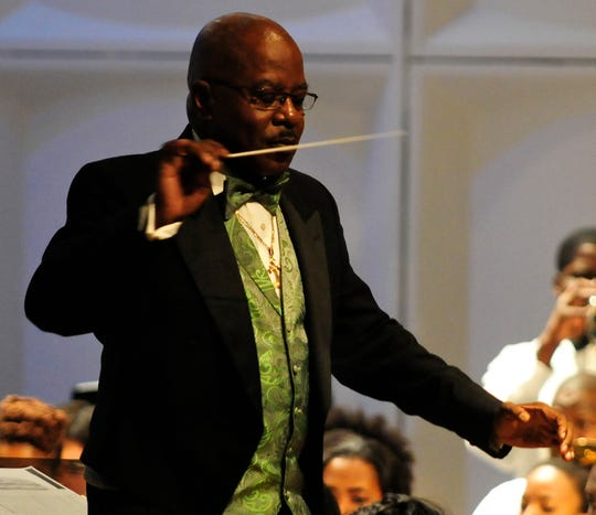Dr. Julian White, retired chair of the FAMU Department of Music, conducts a special concert at St. Peter's Anglican Church Friday.
