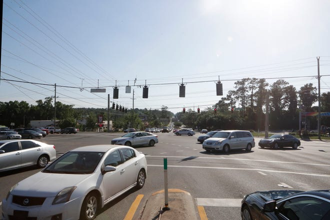 The intersection of Capital Circle Northeast and Mahan Drive during rush hour traffic Tuesday, May 7, 2019.