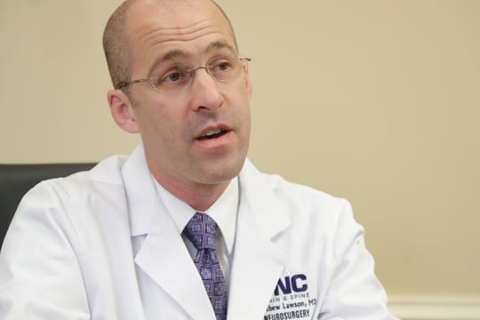Dr. Matthew Lawson, a Tallahassee Memorial HealthCare neurosurgeon talks about mechanical thrombectomy procedures which are done by the neurology team at TMH Tuesday, May 7, 2019.