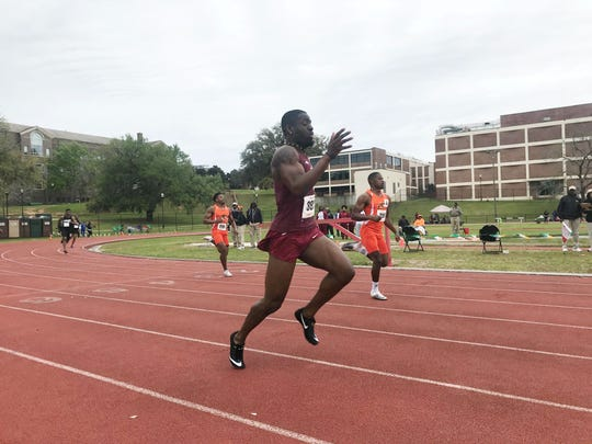 Florida State senior Andre Ewers races in the 200 at the FAMU Relays on Saturday, March 16, 2019.