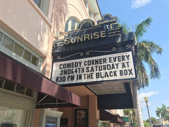 The Sunrise Theatre in Fort Pierce has comedy shows every second and fourth Saturday of the month in the intimate Black Box.