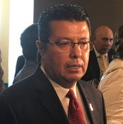 Juárez Mayor Armando Cabada was the guest speaker at the El Paso Central Business Association luncheon May 8, 2019, in Downtown El Paso.