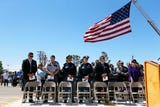 People gathered to honor the memory of fallen correctional officers Wednesday, May 8, at Rogelio Sanchez State Jail in El Paso.