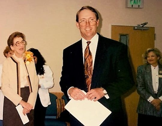 L. Marcus Fry at a function as Sierra Medical Center in the 1990s. He helped start the hospital for a company that later became Tenet Healthcare, one of the nation's largest hospital chains.