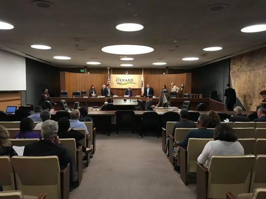 The Oxnard City Council Chambers on May 7, 2019.