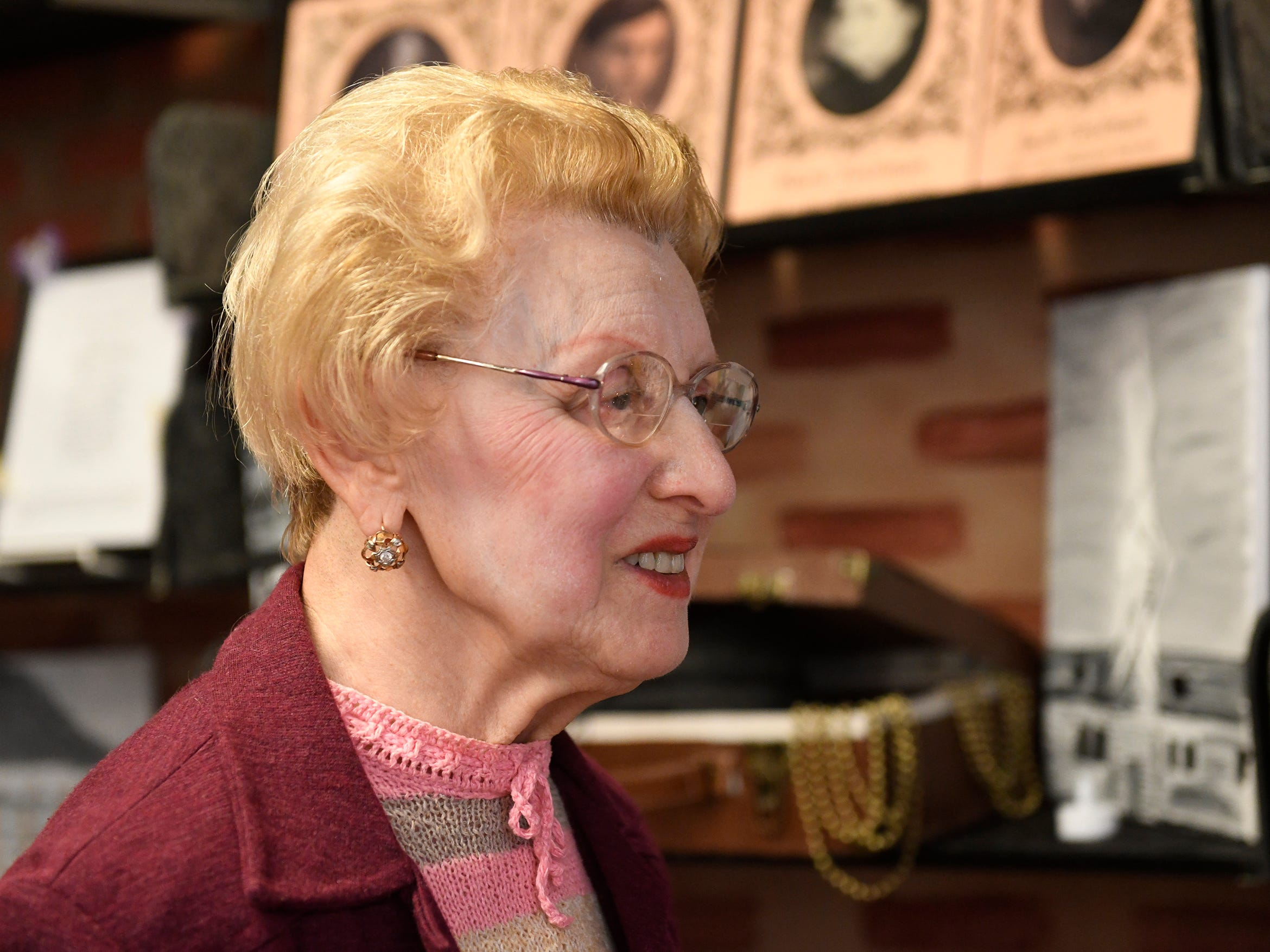 Holocaust survivor Genia Kuhnreich attends the Kuhnreich/Teichman/Media Holocaust Research Center and Permanent Exhibit unveiling at Vineland High School on Wednesday, May 8, 2019.