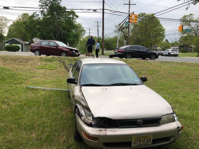 Vineland Police are investigating a four-vehicle collision at Orchard and Almond roads on May 8, 2019.