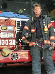 "Kevin Duffy, a Yonkers firefighter, is a finalist for PETA's ""Sexiest Vegan Next Door 2019"" award."