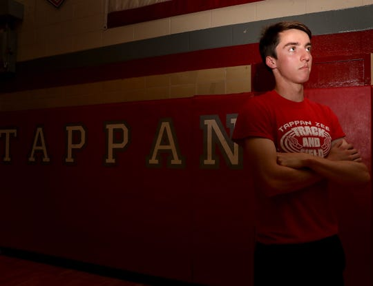 Rockland Scholar-Athlete Patrick Castellano who is a runner for Tappan Zee was photographed at the high school May 7, 2019.