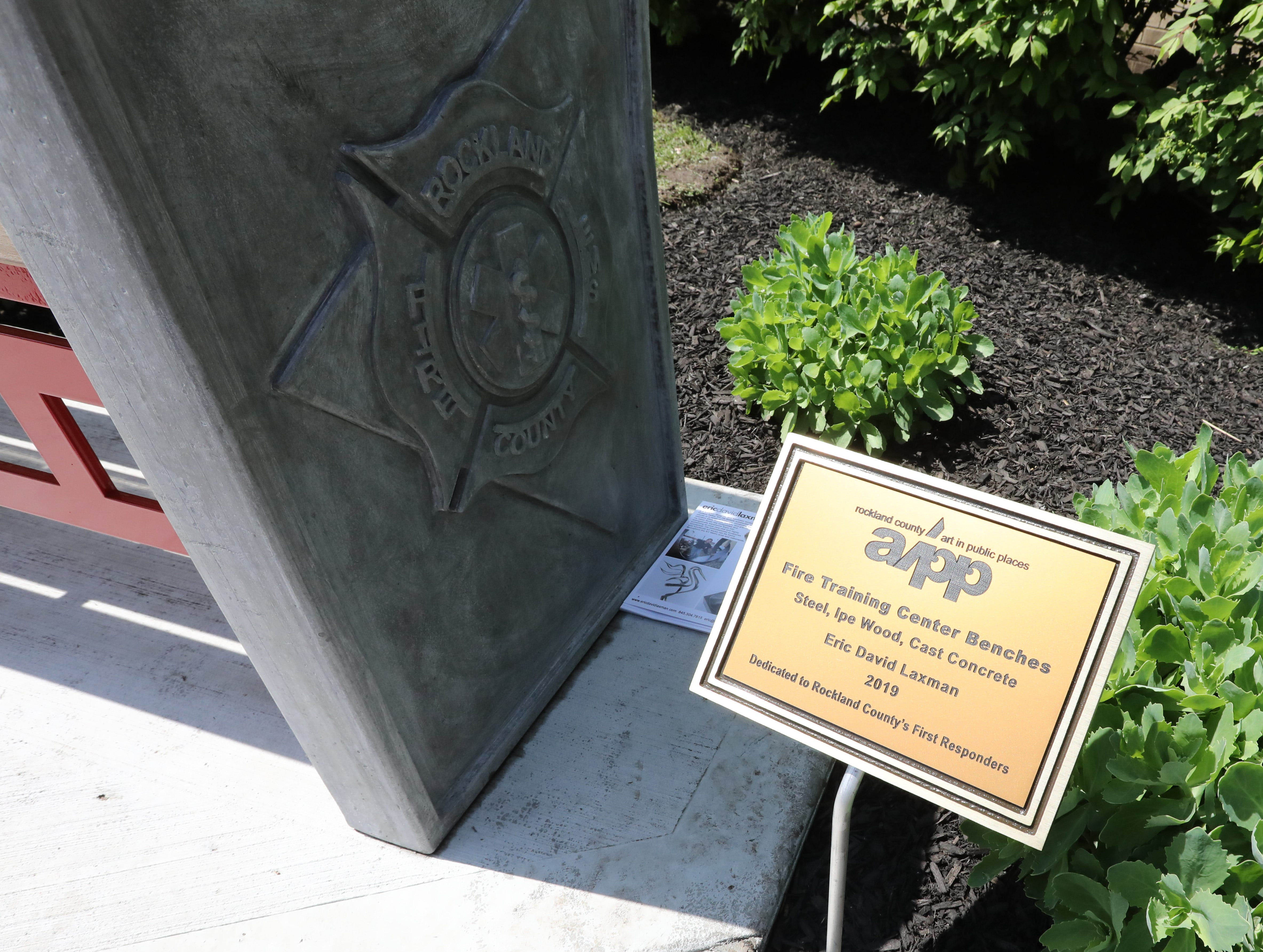 Two commemorative benches by 
