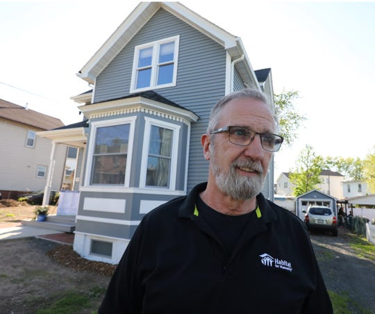 Keith Albert, executive director of Habitat for Humanity of Rockland at their latest house on Westside Ave. in Haverstraw May 8, 2019.