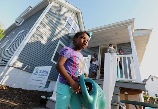 Isabella Boucicaut, 3, will be moving in to this new Habitat for Humanity of Rockland house on Westside Ave. in Haverstraw May 8, 2019.