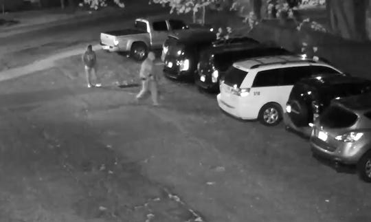 Spring Valley police said surveillance video shows two males break into a car at 99 Union Road.
