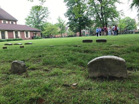 Sophomores from the Wilmington Friend's School visited the meeting house in the city's Quaker Hill School Wednesday to learn about the historical connection between the people buried there and the areas in which they live.