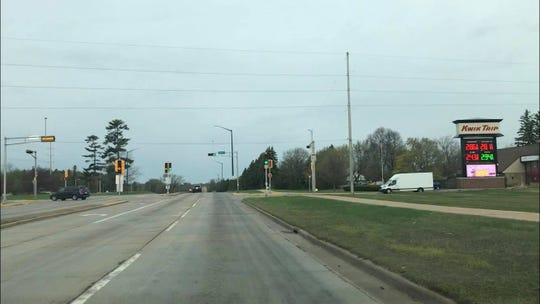 The intersection of Riverview Expressway and Lincoln Street in Wisconsin Rapids.