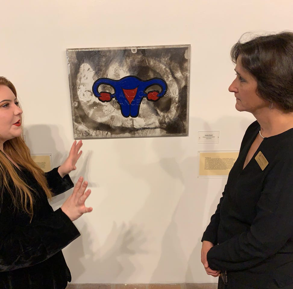 Artist's MSU-Texas senior show tackles 'top killers,' such as depression, cancer