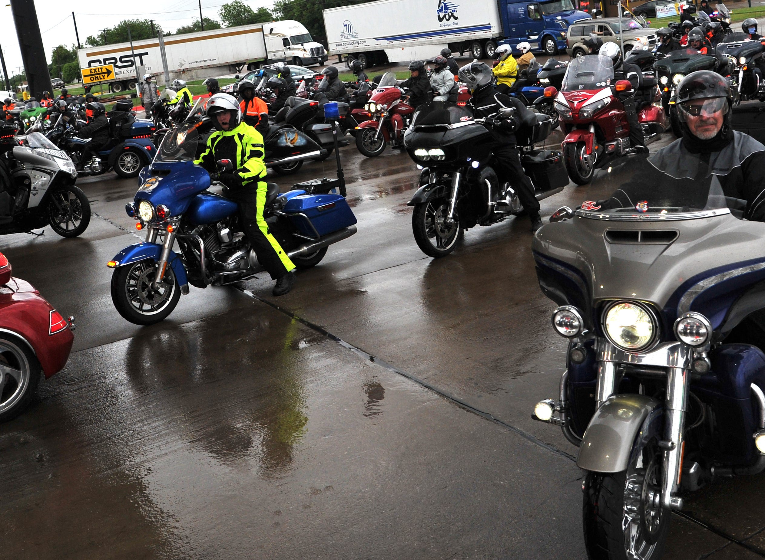 Hundreds of participants in Kyle Petty's Charity Ride made a pitstop to refuel in Wichita Falls, Wednesday morning.