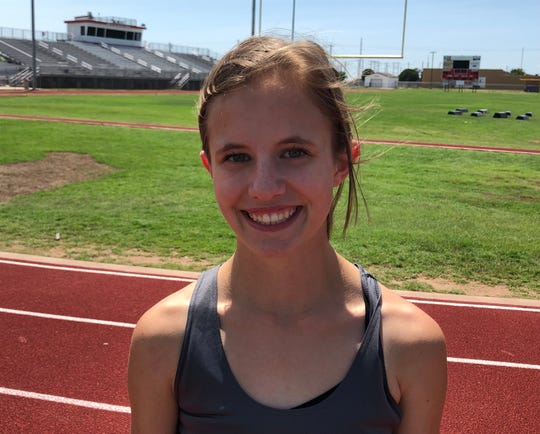 Holliday's Hannah Spears is running the 3,200 and 1,600 at the Class 3A UIL Meet Friday in Austin.