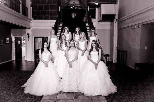 Among those honored May 4, 2019, at the Junior Forum Debutante Presentation were: top row, left to right: Elayna Anderson, Logan Browning; middle row, left to right: Jayden Browning, Caroline Cooper, Brooke Altman, Devon Browning; bottom row, left to right: Aston Ryle, Chloe Clymer, Kayley Coxen.