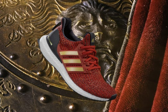 This Lannister shoe is one of the more colorful offerings in Adidas' 'Game of Thrones' Ultraboost Shoe collection.