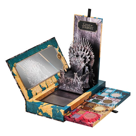 How's that for a makeup chair? Urban Decay offers a range of 'Game of Thrones' shades.