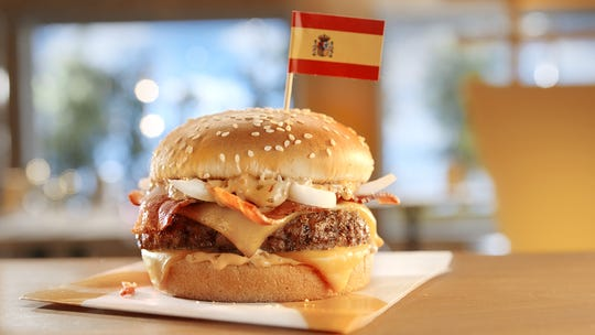 Grand McExtreme Bacon Burger from Spain.
