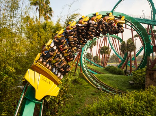 At 114 feet, Kumba at Busch Gardens Tampa boasts one of coasterdom's tallest vertical loops. As part of the Waves of Honor program, qualified service members and three guests Busch Gardens and SeaWorld Orlando for free through July 15.