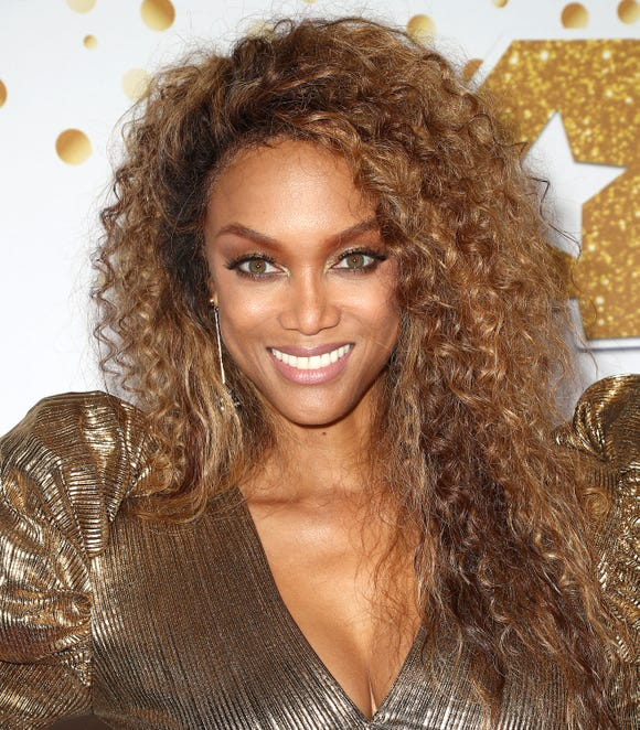 Tyra Banks, pictured on Sept. 18, 2018, is one of the cover models of the 2019 Sports Illustrated Swimsuit issue.