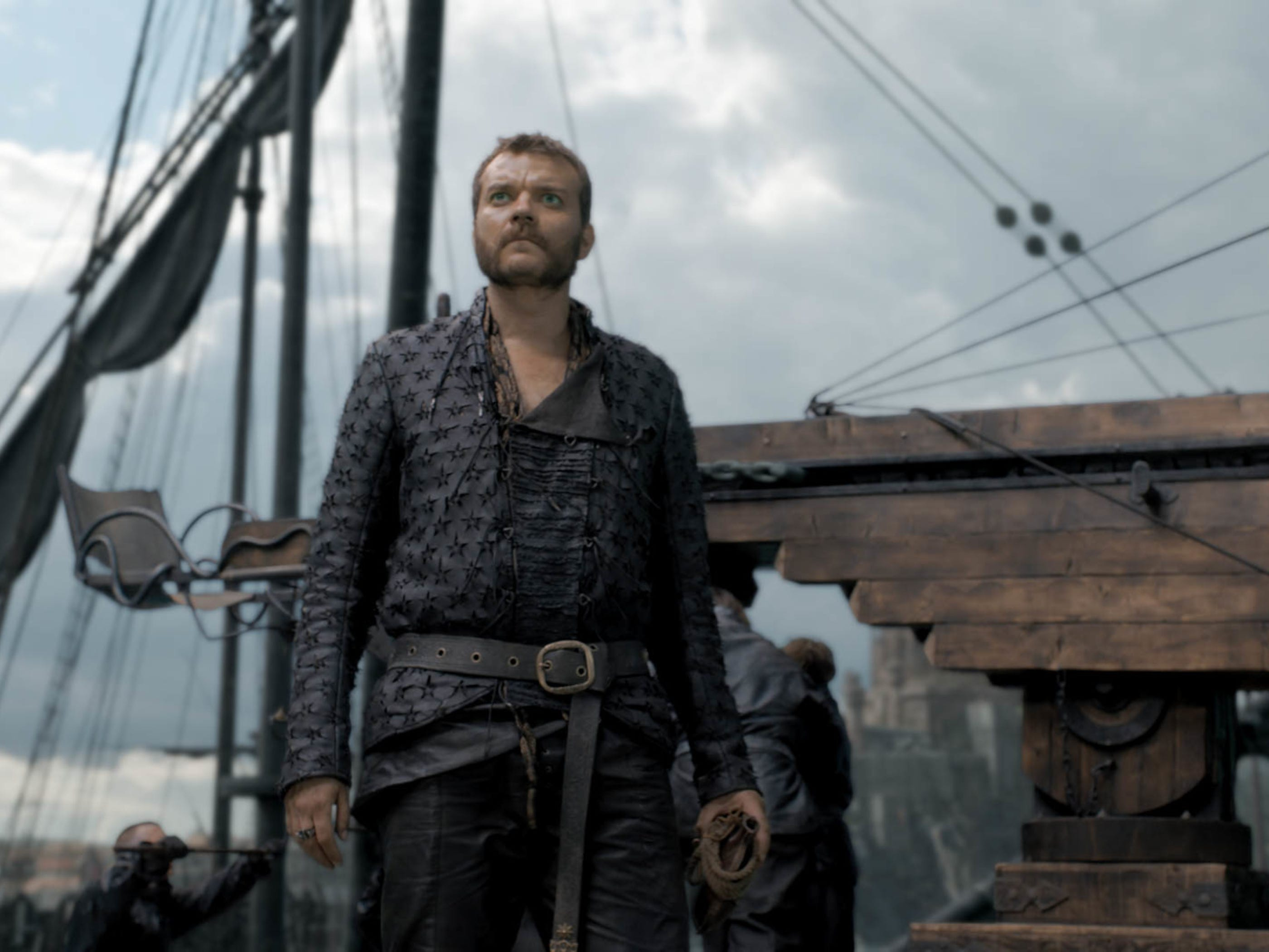"Pilou Asbaek as Euron Greyjoy on ""Game of Thrones."""